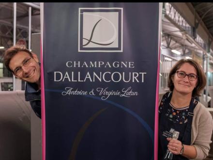 Antoine et Virginie Lutun, champagne DALLANCOURT
