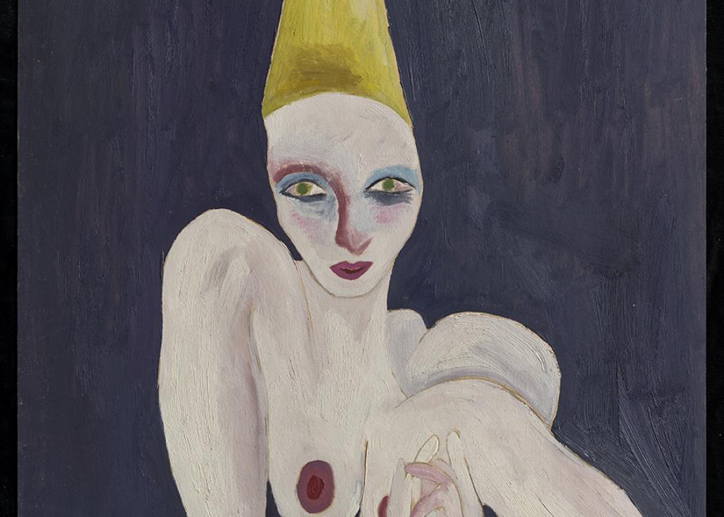 Cathy Josefowitz, L'Acrobate, vers 1974 Huile sur carton 96,0 x 67,5 cm